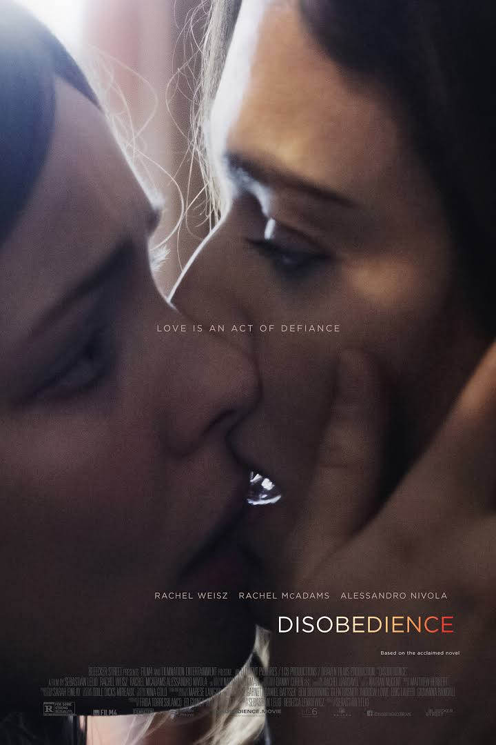 Disobedience - Director: Sebastian LelioMusic Supervision: SixtyFour MusicSynopsis: 32-year-old Ronit returns to her Ultra-Orthodox Jewish community in Hendon, London from which she was exiled several years ago on account of her sexual relationship with her childhood friend, Esti. Upon arrival, she is surprisingly greeted with kindness and warmth and even sees that Esti is there and is married to her cousin Dovid. The friendship once again develops into a emotional, sexual and forbidden love that they both thought ended years ago.