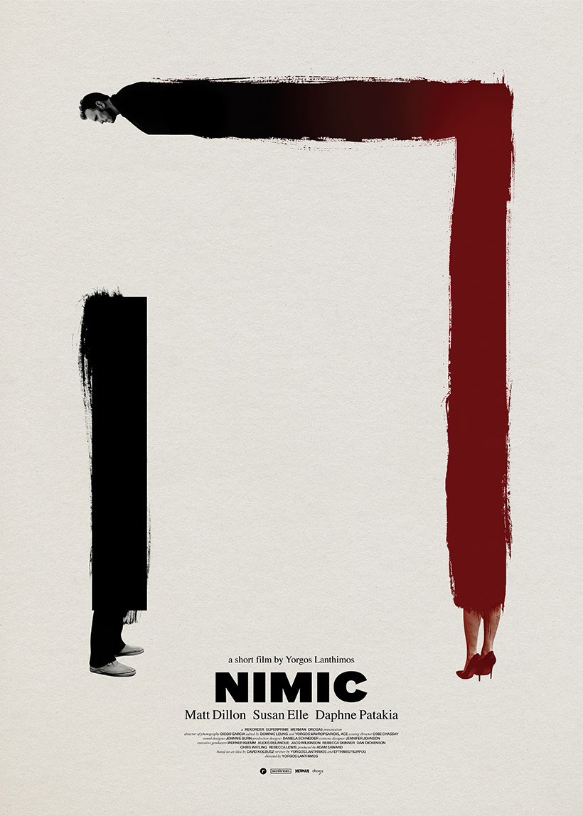 NIMIC - Director: Yorgos LanthimosMusic Supervision: SixtyFour MusicSynopsis: A new Yorgos Lanthimos short 'NIMIC' produced by Rekorder Berlin, Superprime, Merman in association with Droga5. The film premiered at the Locarno Film Festival in 2019. Matt Dillon plays a professional cellist who has an encounter with a stranger on the subway, which has unexpected and far-reaching ramifications on his life. The cast includes Daphné Patakia, Susan Elle, Sara Lee, Eugena Lee, Rowan Kay, Anvo Kyle, Lizzy Ceniceros, Florencia Mariotti and Jeffrey Raines. The film will be released in 2020.