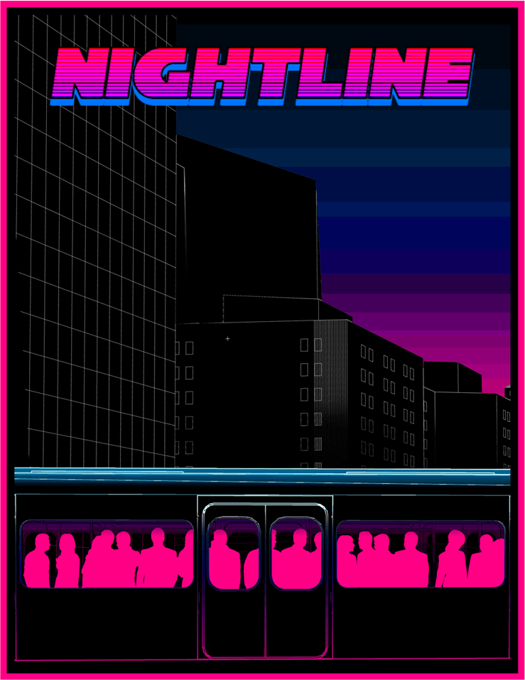 Nightline - Game name: NightlineDeveloper: ColorfictionRelease Date: Jun 23, 2018Platforms: Windows, OSX & LinuxStorepages: Itch.io ,Specs: 2GHZ+ CPU, 4GB RAM, 6GB HDD, DirectX 11Game Website: colorfiction.co/nightlineDeveloper Website: colorfiction.coContact & Social Media: Email, Twitter