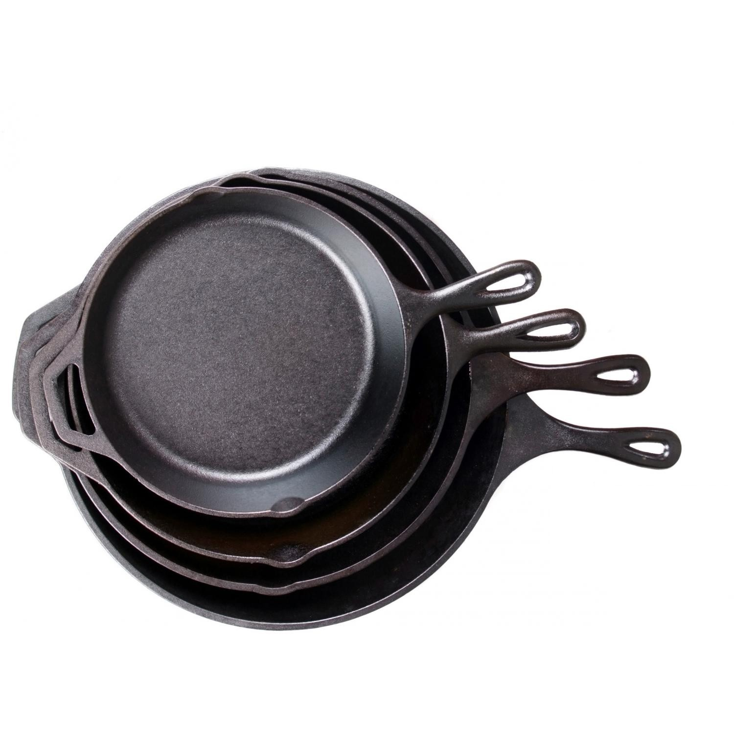 4. Lodge Cast Iron Everything  These babes are everything because they are timeless, easy to cook with, durable, and affordable! We love using these for frittatas, roasting vegetables, and make sweet treats. If you stock up, please get the cute petite skillet.... so perfect for Chelsie's muffie recipe!