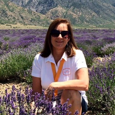 In the Young Living Mona Lavender Farm