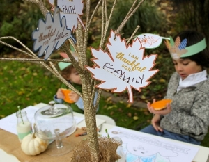 How cute is that Gratitude Tree?! Photo by:  Just Add Confetti