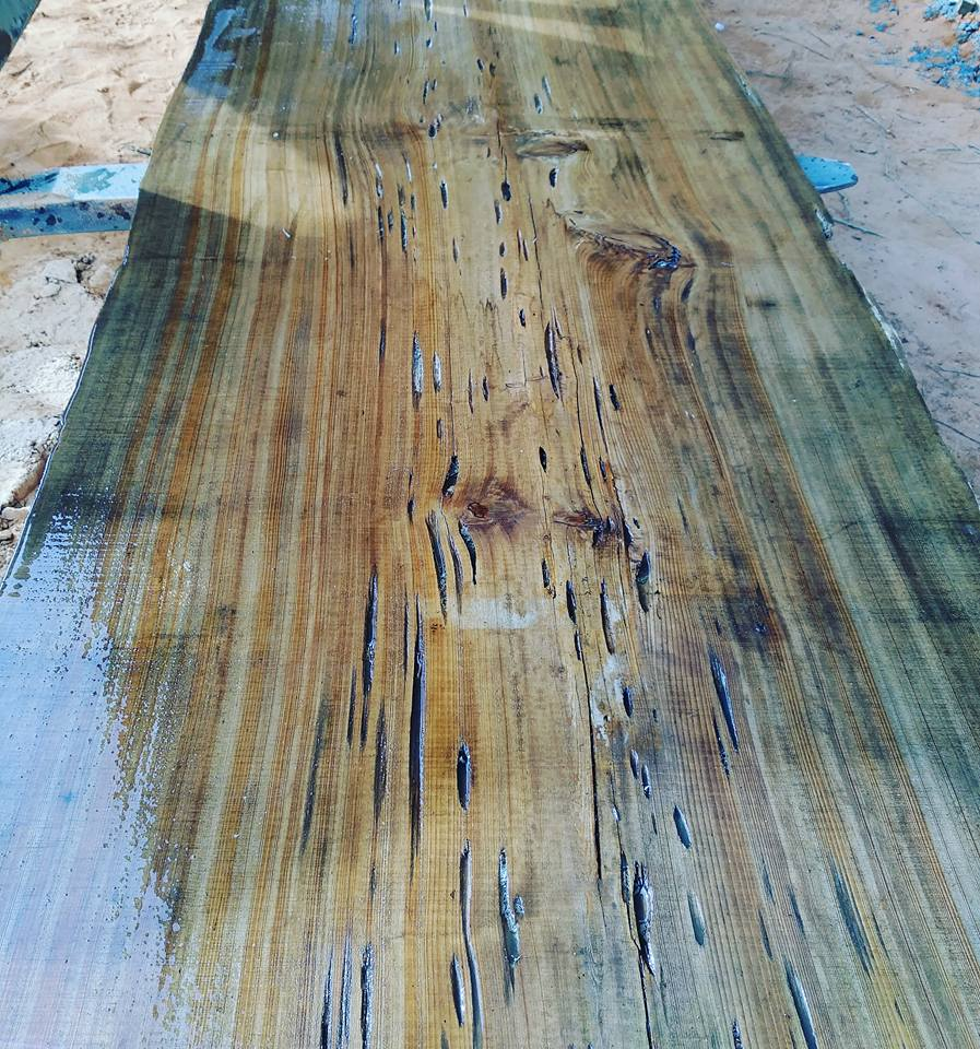 Pecky Cypress Reclaimed Table Slab