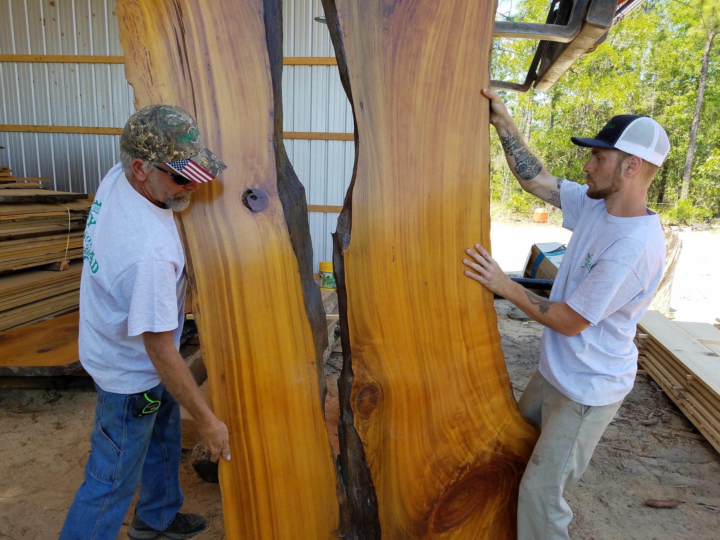 1,000 Year Old Live Edge Sinker Cypress Slab