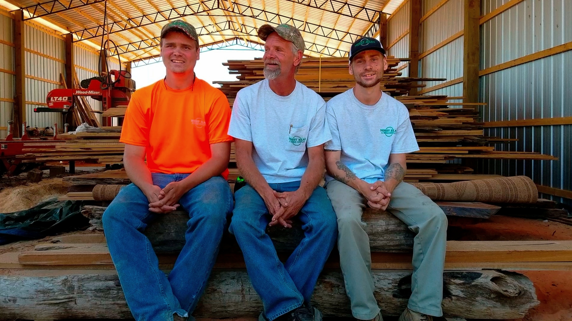 Rich Mitchell with sons. (L to R - Cory, Rich and Steve)