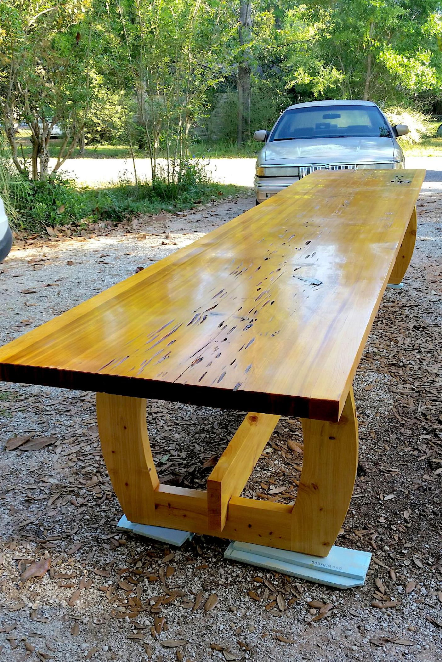Pecky Cypress Dining Table