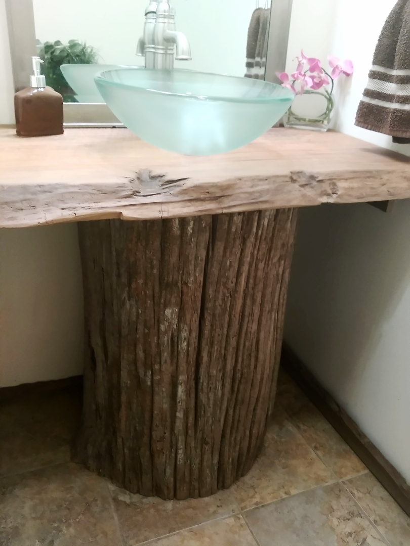 Cypress Tidewater Countertop and base