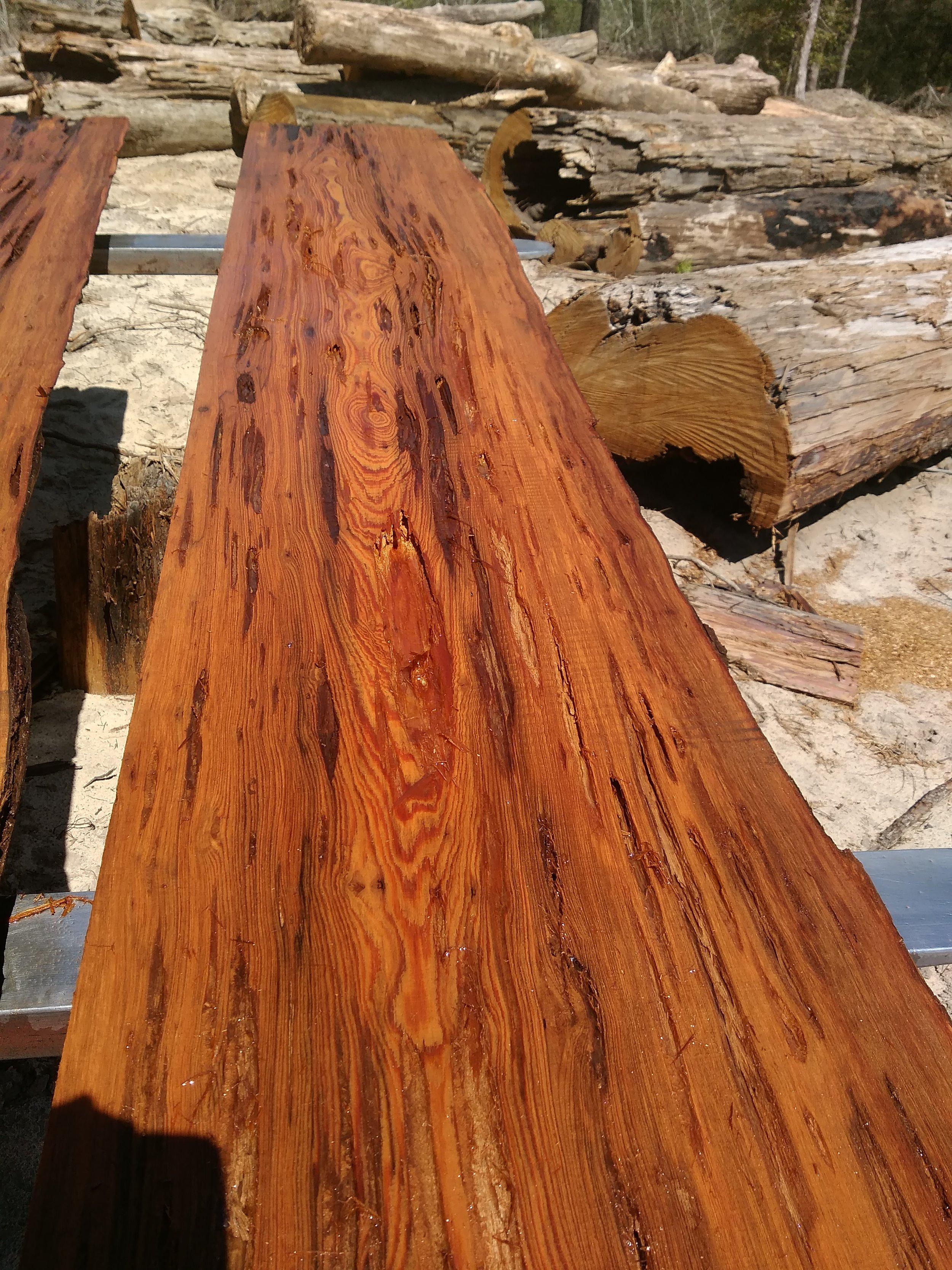 Reclaimed Cypress Pecky Board
