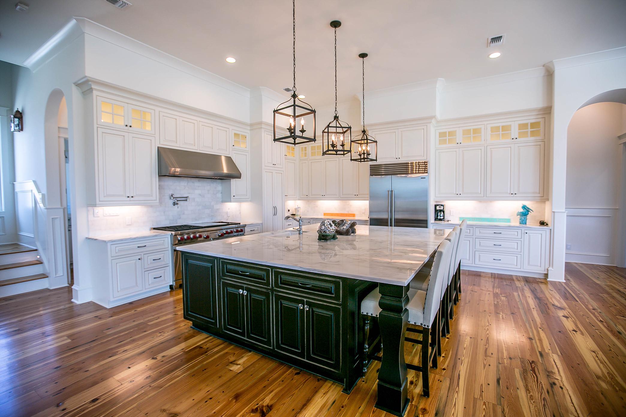 Custom Home with Hard Wood Flooring .