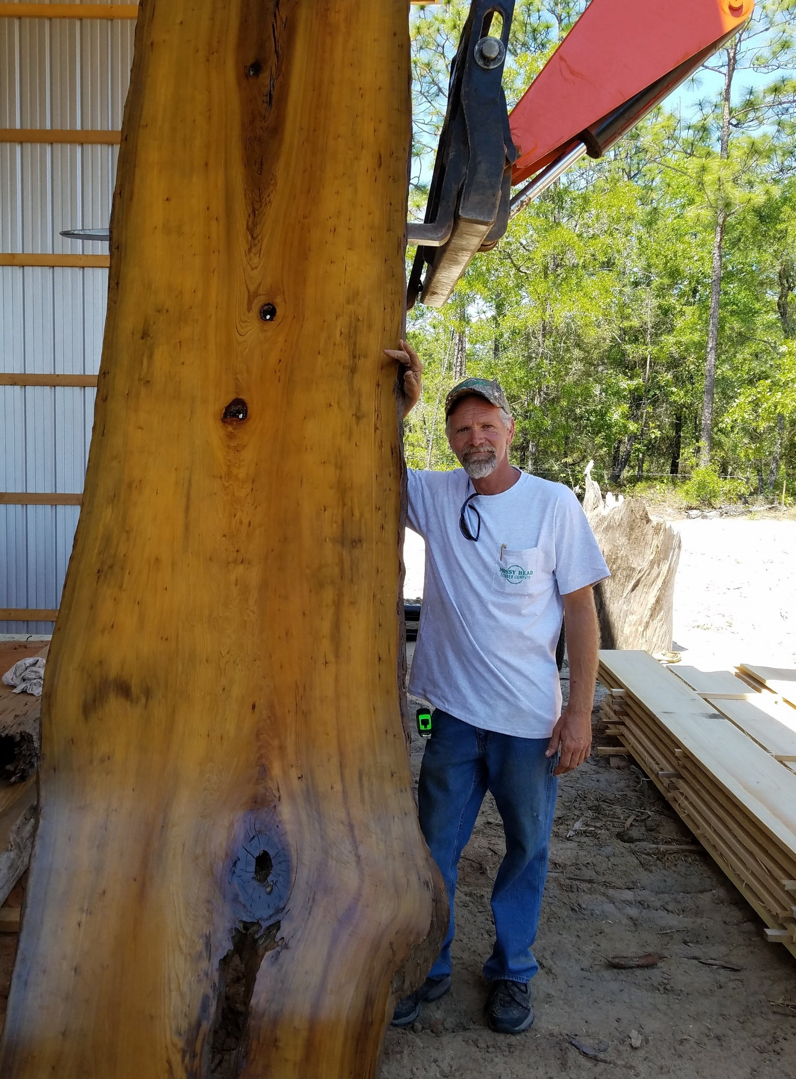 Rich Mitchell, owner/operator of Mossy Head Lumber Com