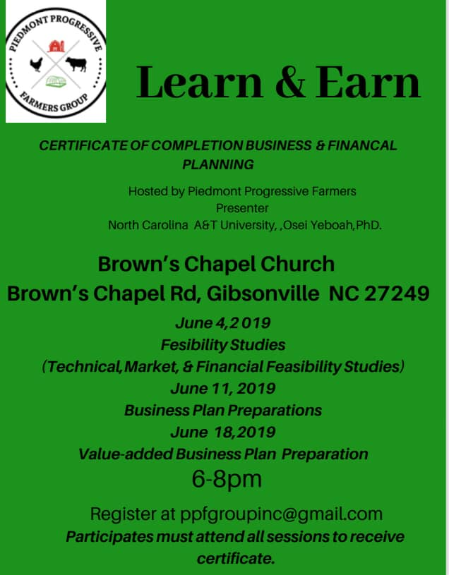 Please Join us throughout the month of June for four, very exciting informational sessions regarding business and financial planning for your farm!