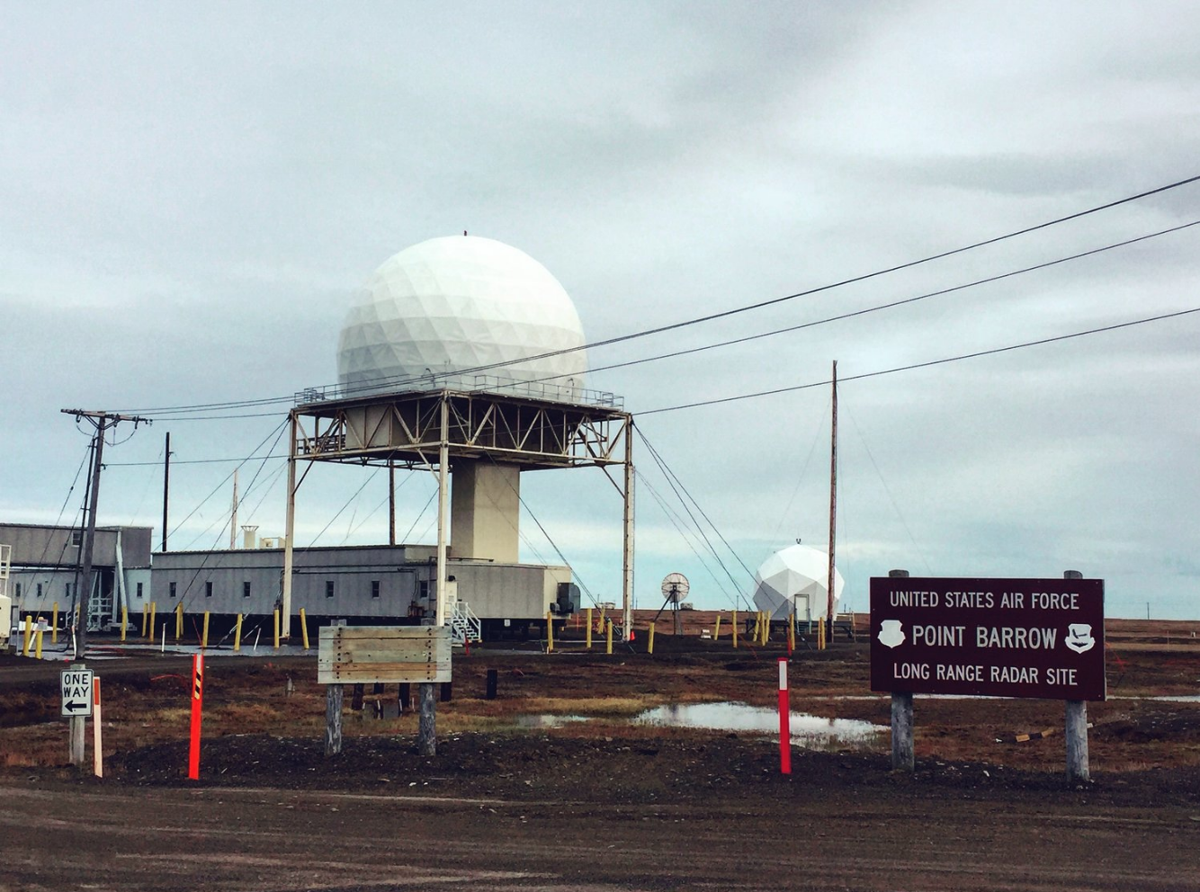 The Distant Early Warning Line Radar Site at Point Barrow, Alaska  Photo by Tess Lanzarotta, 2017