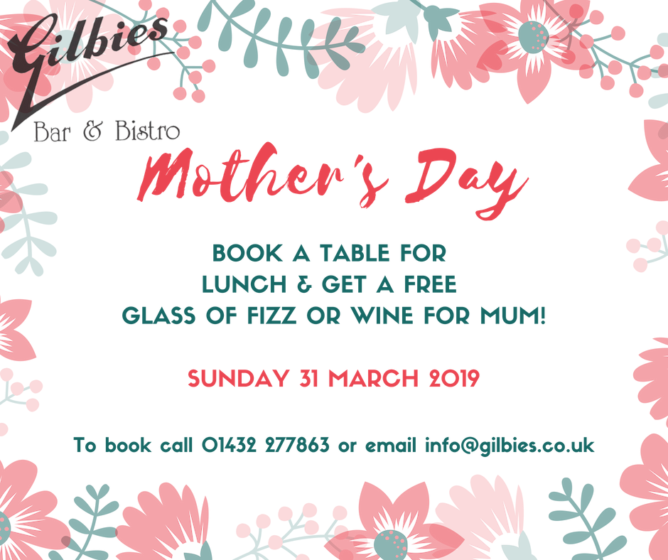 Treat your mum to a beautiful roast - Our cosy restaurant and private patio are the perfect setting to enjoy a meal with Mum who will love a free glass of wine or fizz!Click here to view the menu