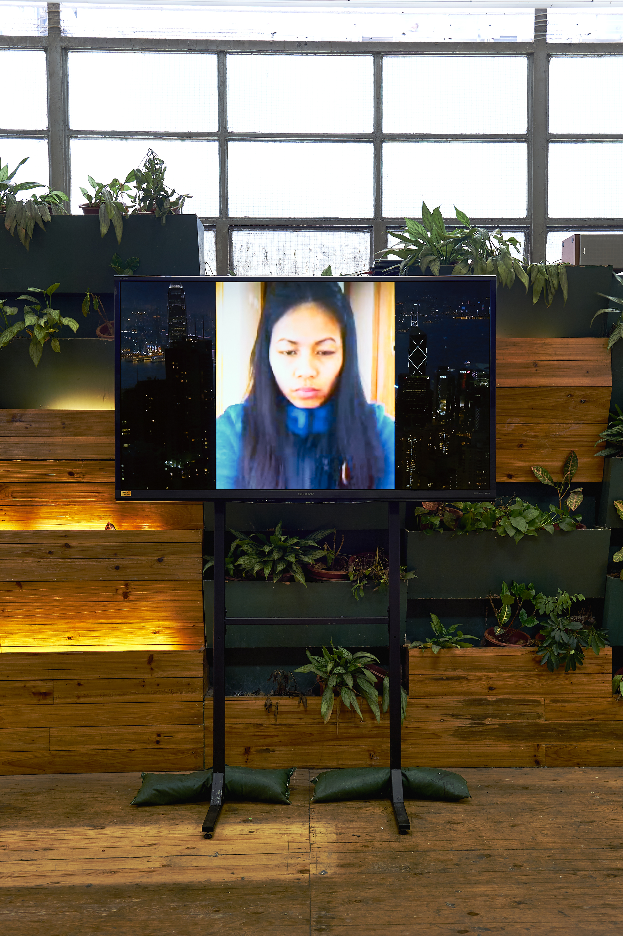Installation view, Stephanie Comilang ,  Lumapit Sa Akin, Paraiso (Come to Me, Paradise), 2016, Video with sound, 30 mins (still)