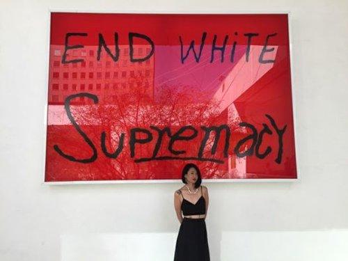 Artwork: Sam Durant, End White Supremacy, 2008