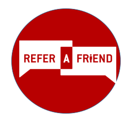 Working with your referrals is the foundation of our business. Click to refer a friend  today!