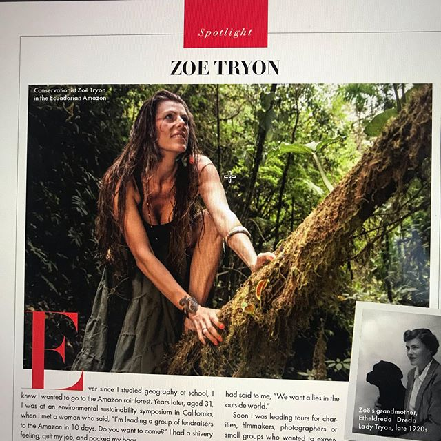 @vanityfairlondon article by @alice__bb from a few moons ago about my trips and inspiration behind them. Next adventure October 13-23rd 2019. See link in bio for lots of information. Can't wait to get back in the jungle! #oneofthetribejourneys #amazon #love #nature #naturelovers #adventuretravel #spiritualadventure #ignature