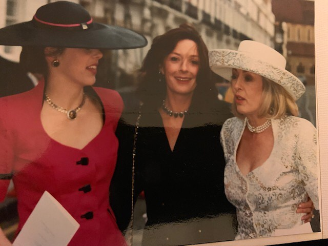 #tbt me aged 15 with my mama (far right) and her bestie @annabellekinkeadweekes1 at @jgm_gallery 's wedding - mum took me out to Tramps nightclub after - love a mother that smuggles their underage daughter into a nightclub! #wildchild #mama