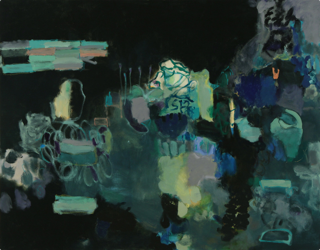 Eyeing the Door, 2010 Oil on canvas 61 x 78 inches