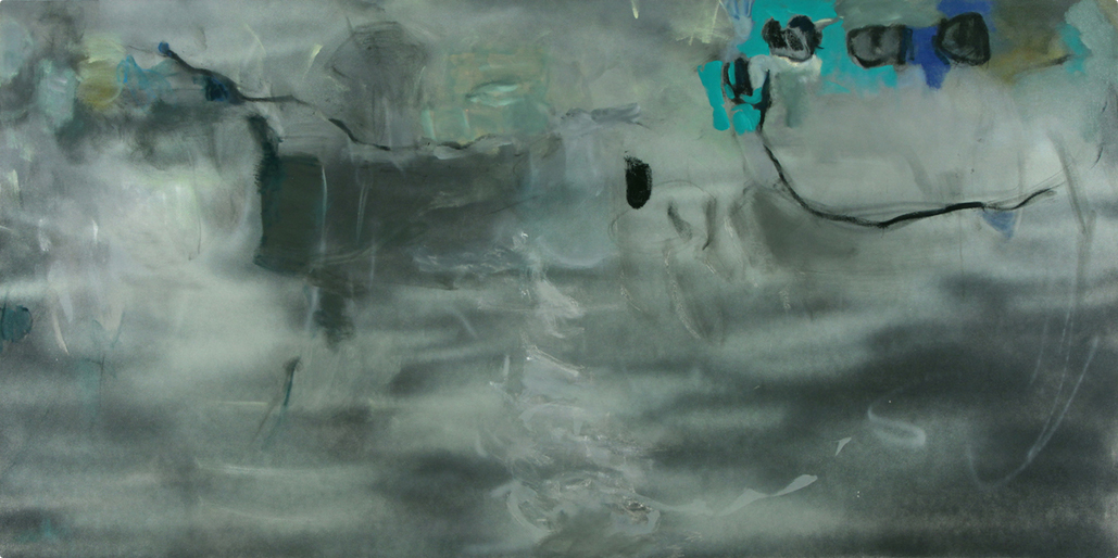 Chase, 2010 Oil & Acrylic on canvas 48 x 96 inches