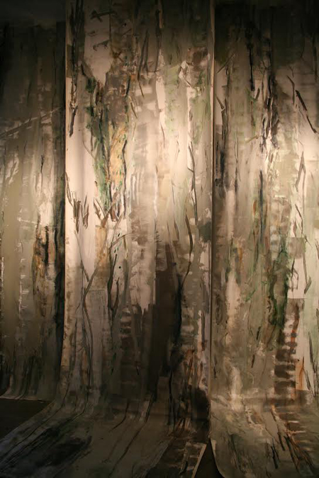 Maritime Forest, 2012, Houston, Texas Dimensions variable, three panels up to 220 x 66 in