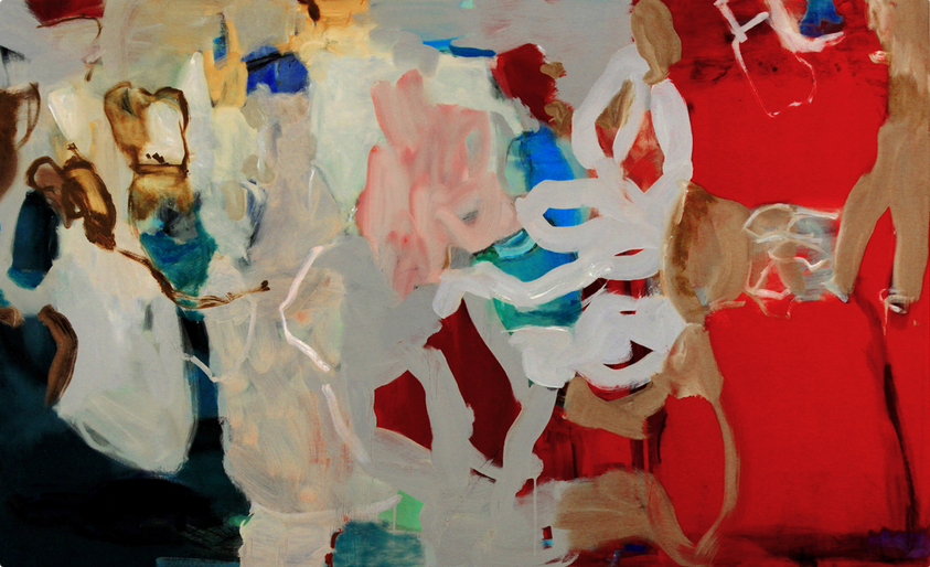 Hidden Histories, 2014 Oil and Acrylic on canvas 80 x 40 inches