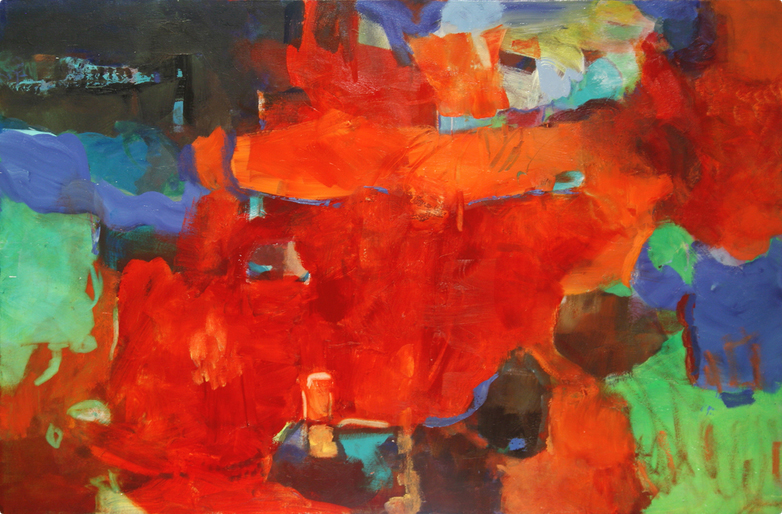 The Bend in the Cave, 2011 Oil on canvas 40 x 60 inches