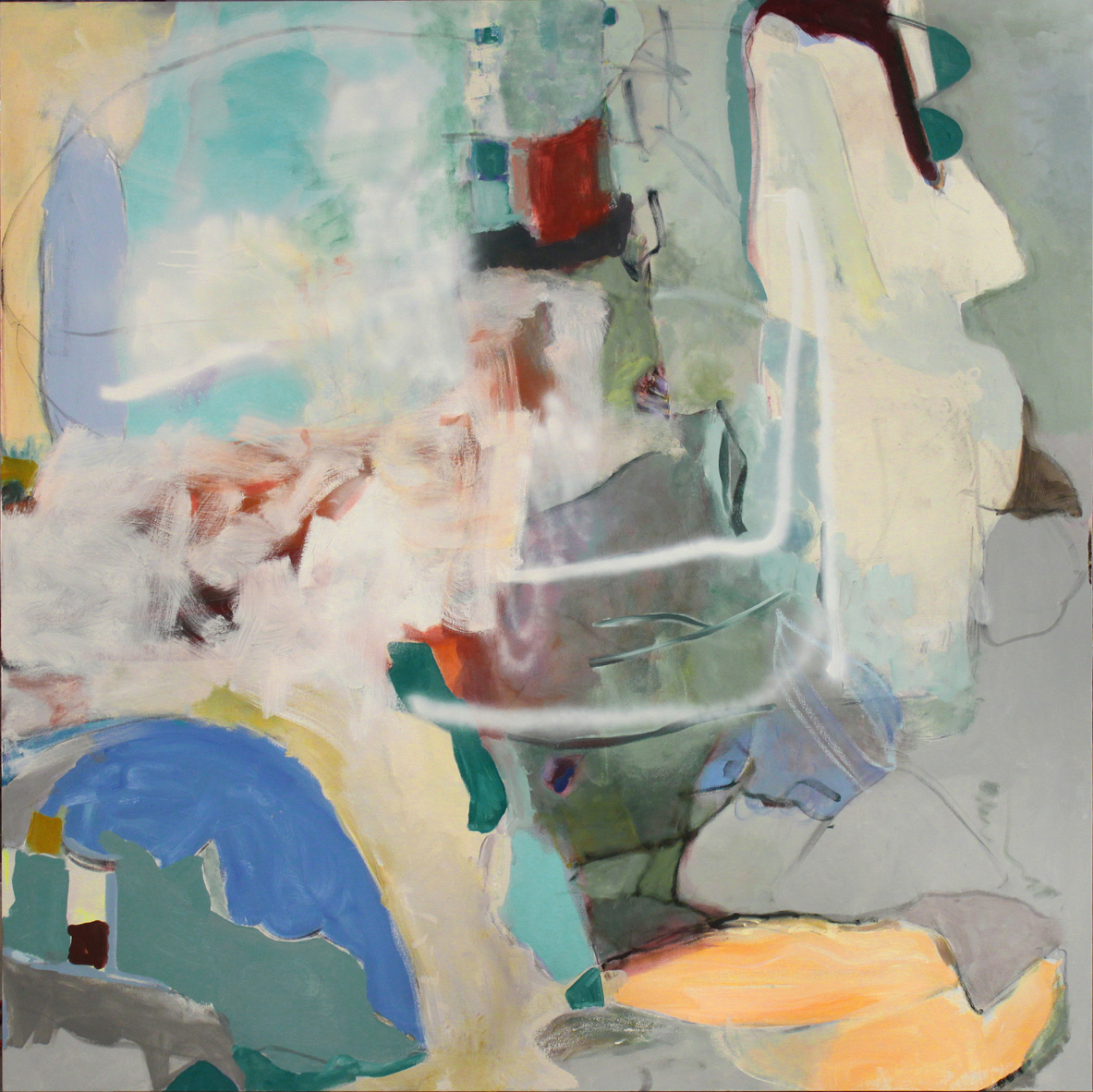 Rampart, 2015 oil and acrylic on canvas 66 x 66 inches