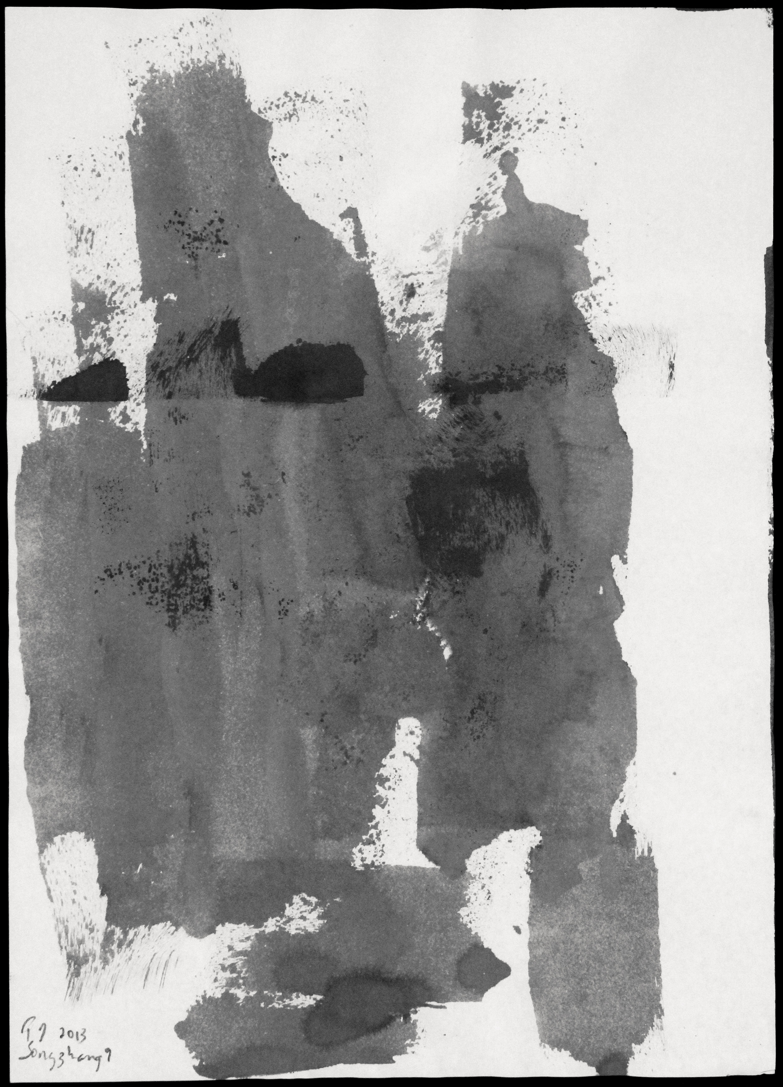 Songzhuang 9, 2013, Ink on Rice Paper, 21 in x 16 in