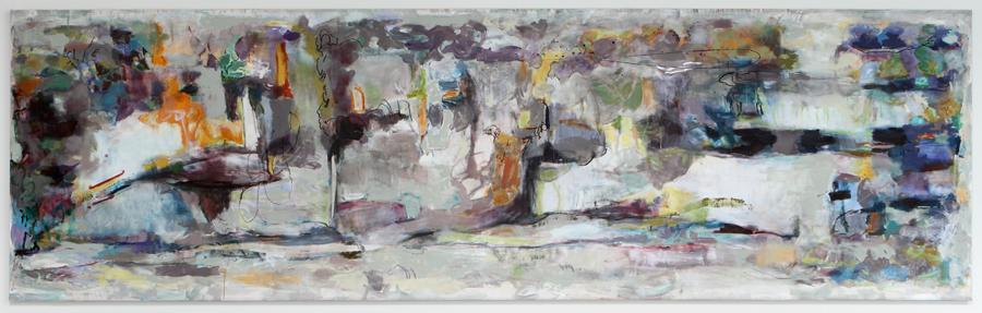 Tidal Threshold, 2010  Oil & Acrylic on canvas  213 x 63.5