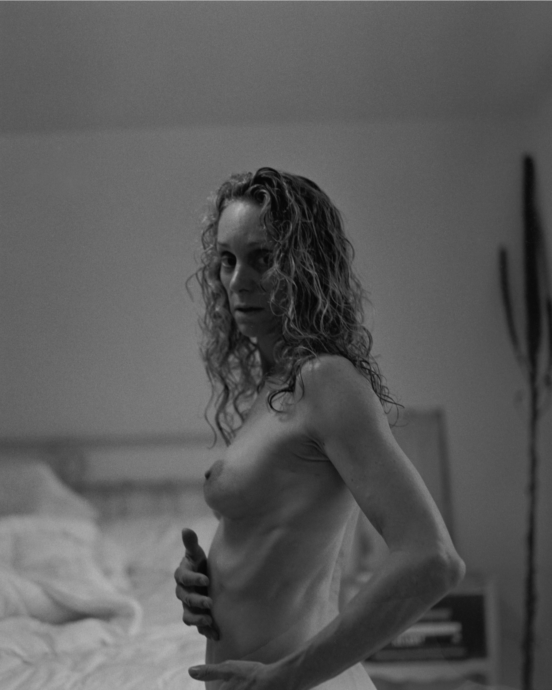Anne in my bedroom, 2019/2010