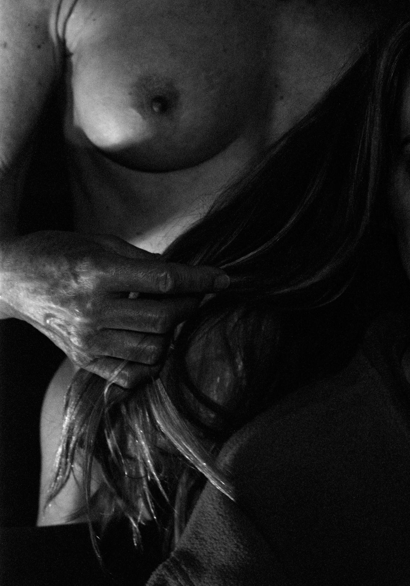 Hand, breast, hair, 2018