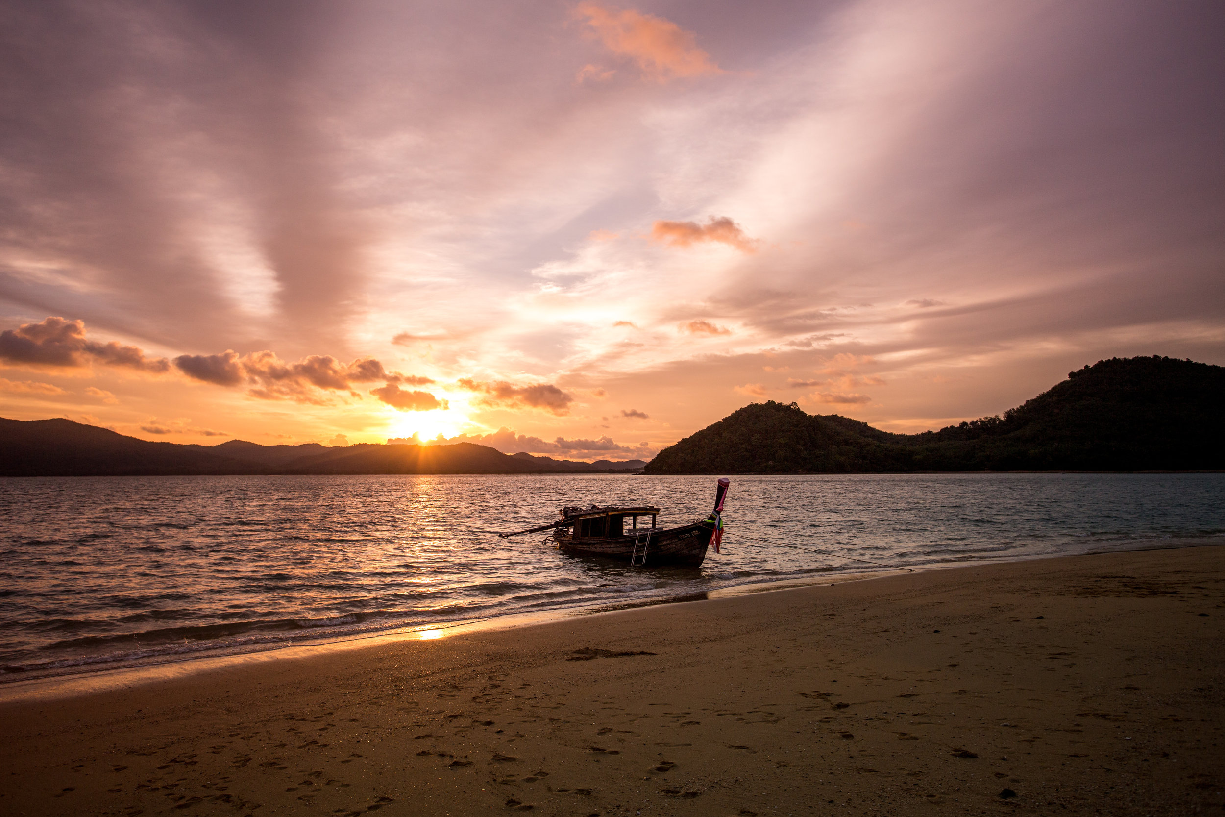 A Private Sunset Castaway