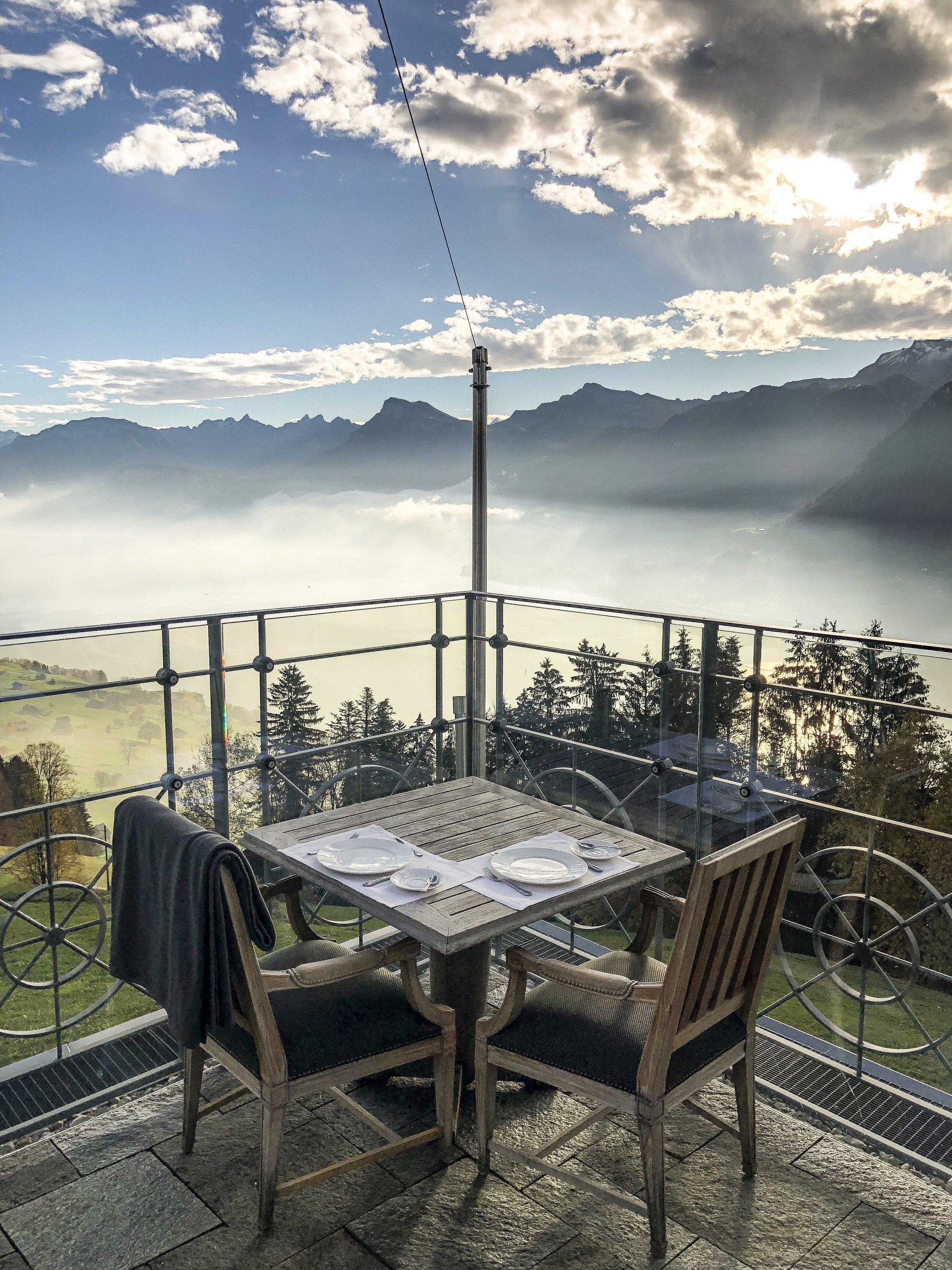 Terrace at Hotel Villa Honegg