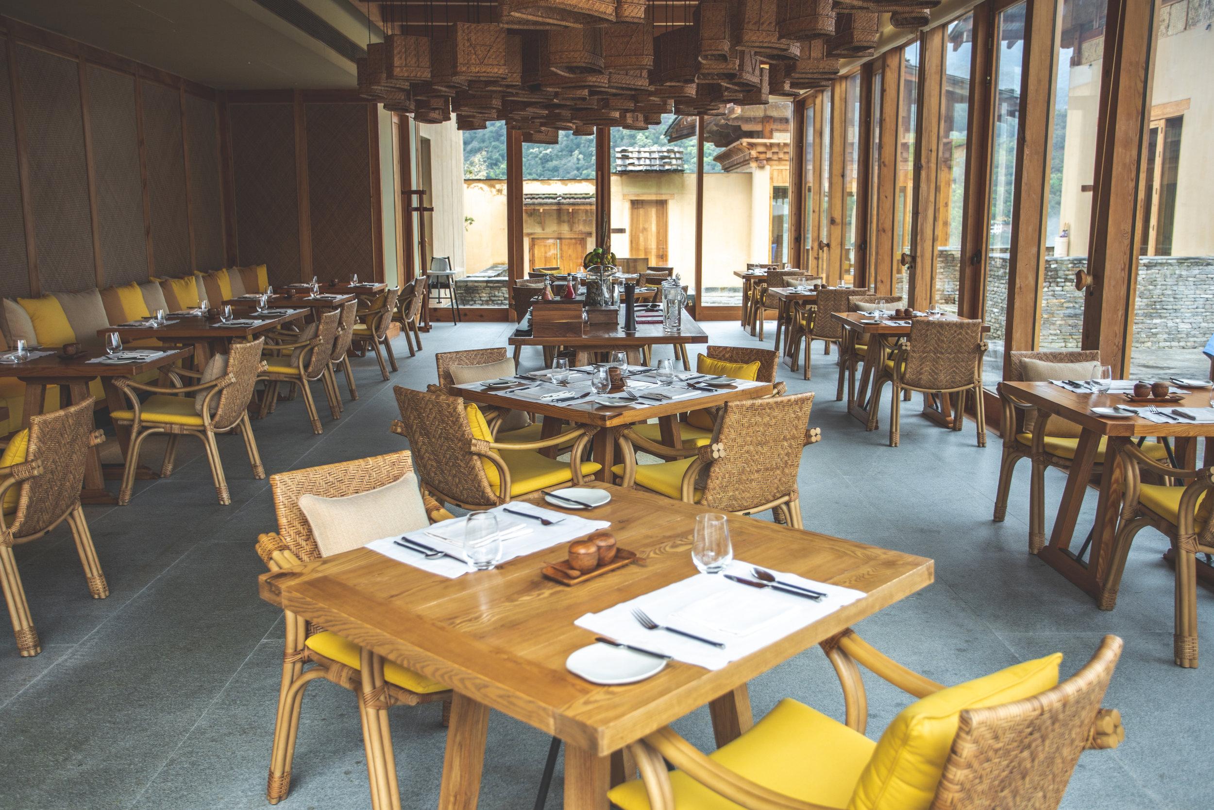 Six Senses Bhutan Punakha Lodge Dining