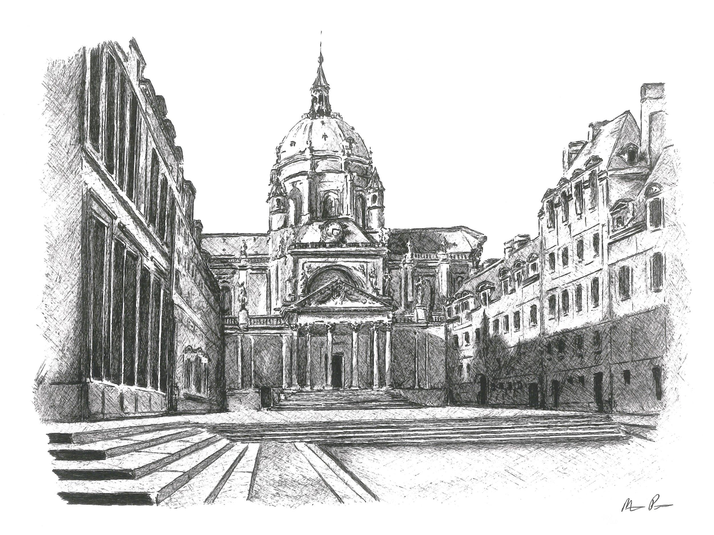 University of Paris - Framed17'' x 14''$475