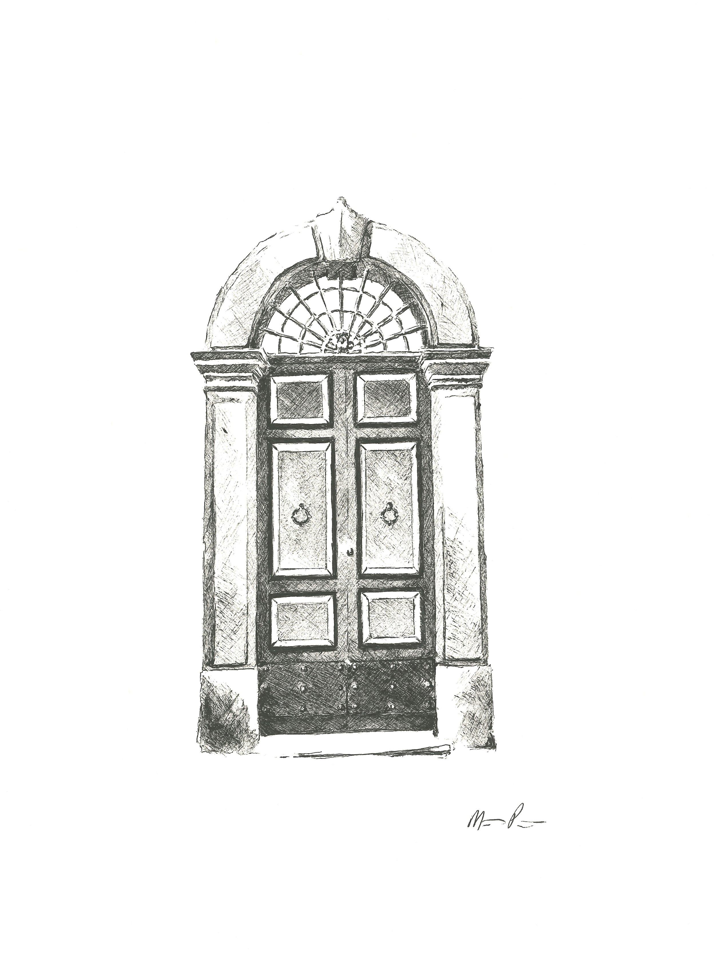 Roman Door - 9'' x 12''$175