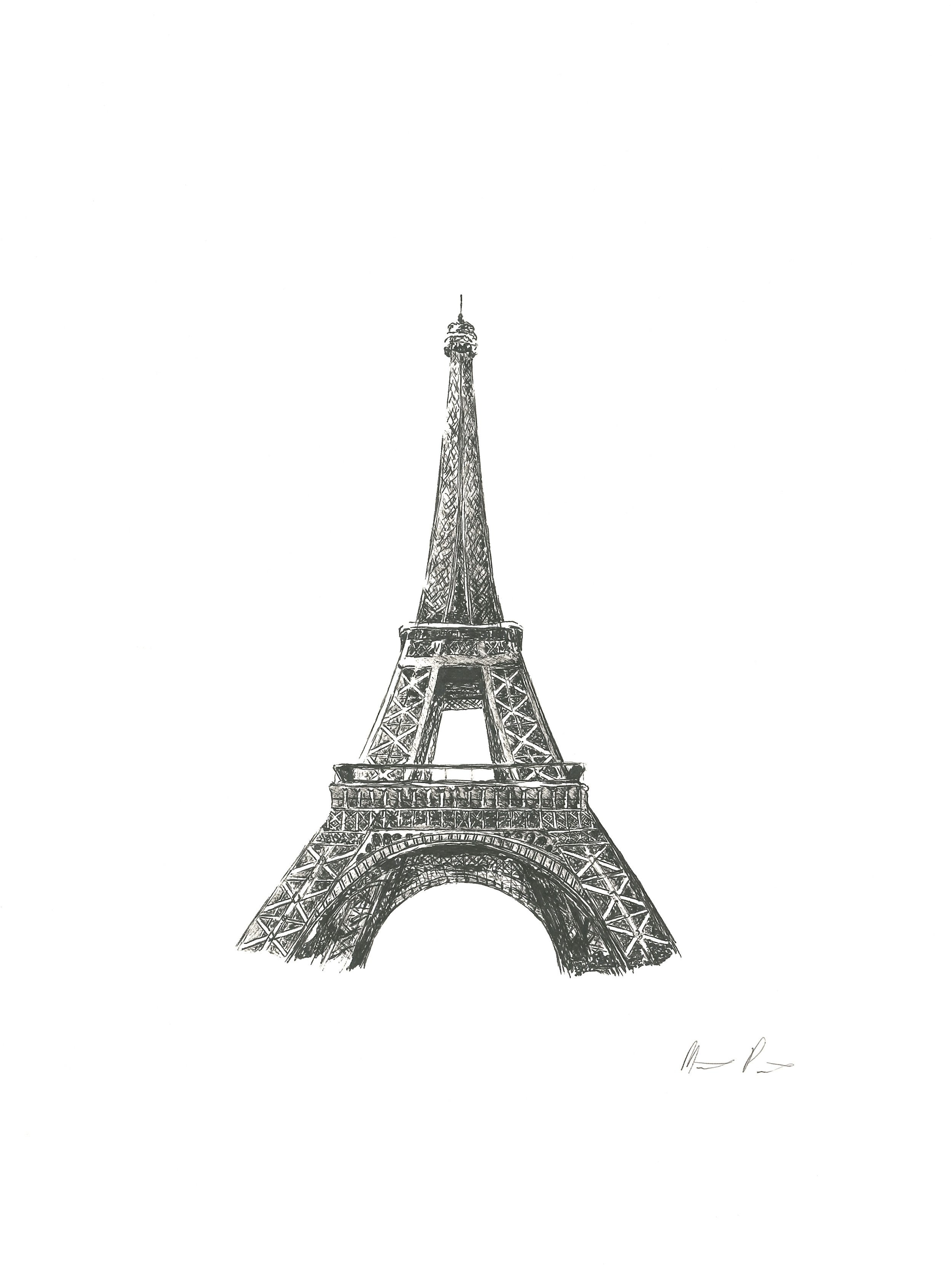 Eiffel Tower - 9'' x 12''$150