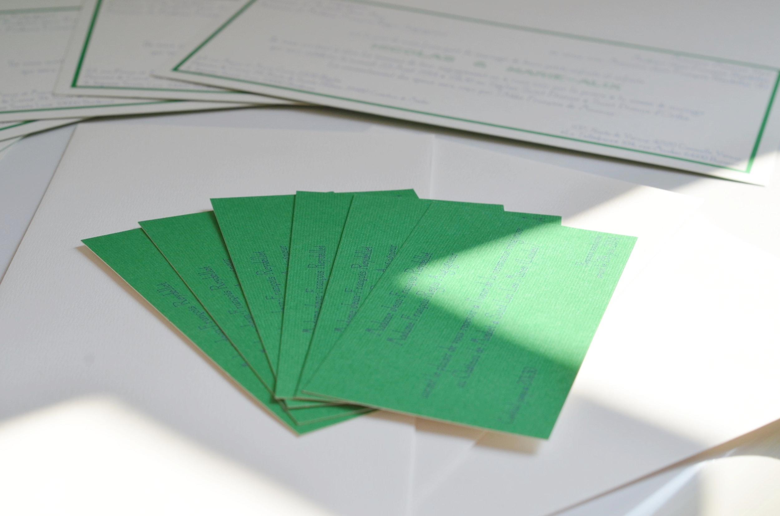 Carton d'invitation - Faire part de mariage
