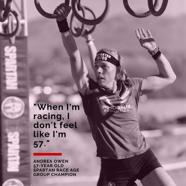 Meet Andrea Owen (@over50spartan), an Arizona-based mother of three and competitive obstacle racer. In 2014, after a long hiatus from sports and athletics, Andrea somewhat reluctantly ran her first Spartan Race, and she was immediately hooked. Andrea has since completed 79 Spartan Races along with a variety of other races. In the last five years of racing, she has earned 9 masters elite podiums, multiple age group podiums, she came in first in the 2018 Spartan US Championship Series and she is the 2018 50 and over Spartan World Champion. In 2019 alone, Andrea has come in first or second in her age group in every single Spartan Race she has run, and is currently #1 in the world in the women's 55-59 age group.⠀ ⠀ In this episode, we talk about how she was able to renew her competitive spirit after a 30 year break, which would lead her down a path to become a dominant force among women over 50 in a new sport. ⠀ ⠀ Listen to Andrea's story now on your favorite place for podcasts - link in bio!