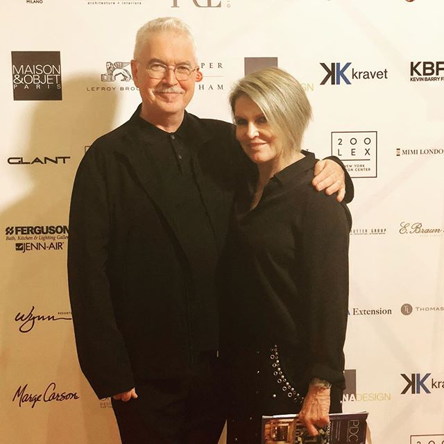 Me and my design boyfriend, @kerryjoyceassociates hanging at the @designicon honoring party last night! Congrats Rocky!