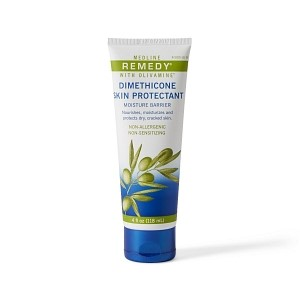 Remedy Olivamine Skin Repair Cream - · Remedy® Olivamine® Skin Repair Cream helps protect and relieve damage related to frequent hand washing such as dryness, cracked, inflamed, reddened and itchy skin.· Blend of nutrients targeted for skin cells, as well as dimethicone to help prevent e-TEWL· Tested to be non-sensitizing, non-allergenic· CHG and latex friendly$10.00/ Bottle