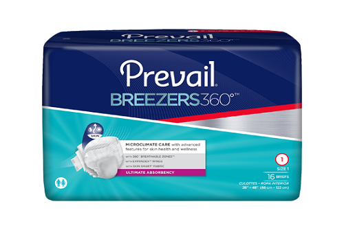 PREVAIL BRIEFS - Prevail® Breezers360°™ – Size 1 PVBNG-012 White 26