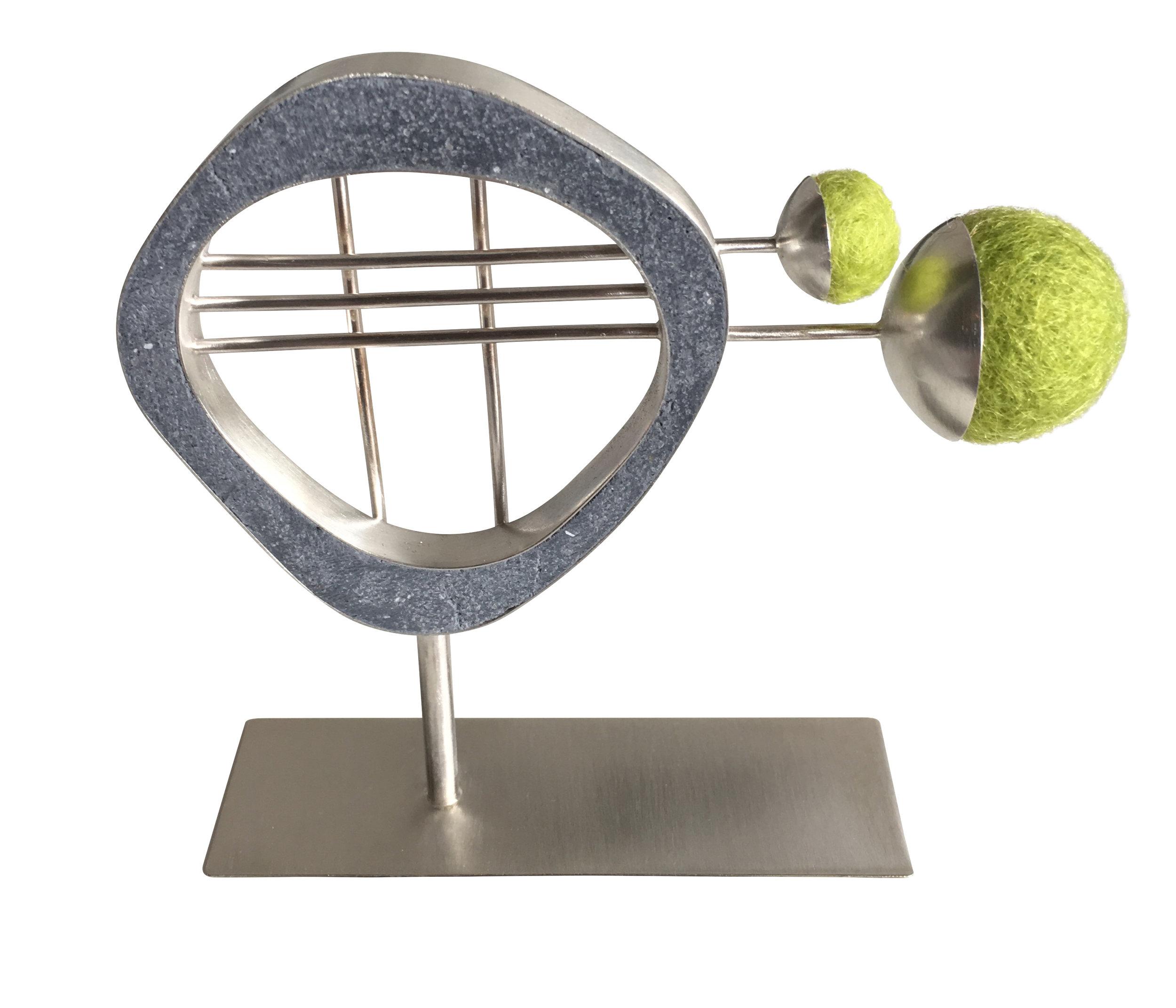 3 Lines 2 Balls Sculpture