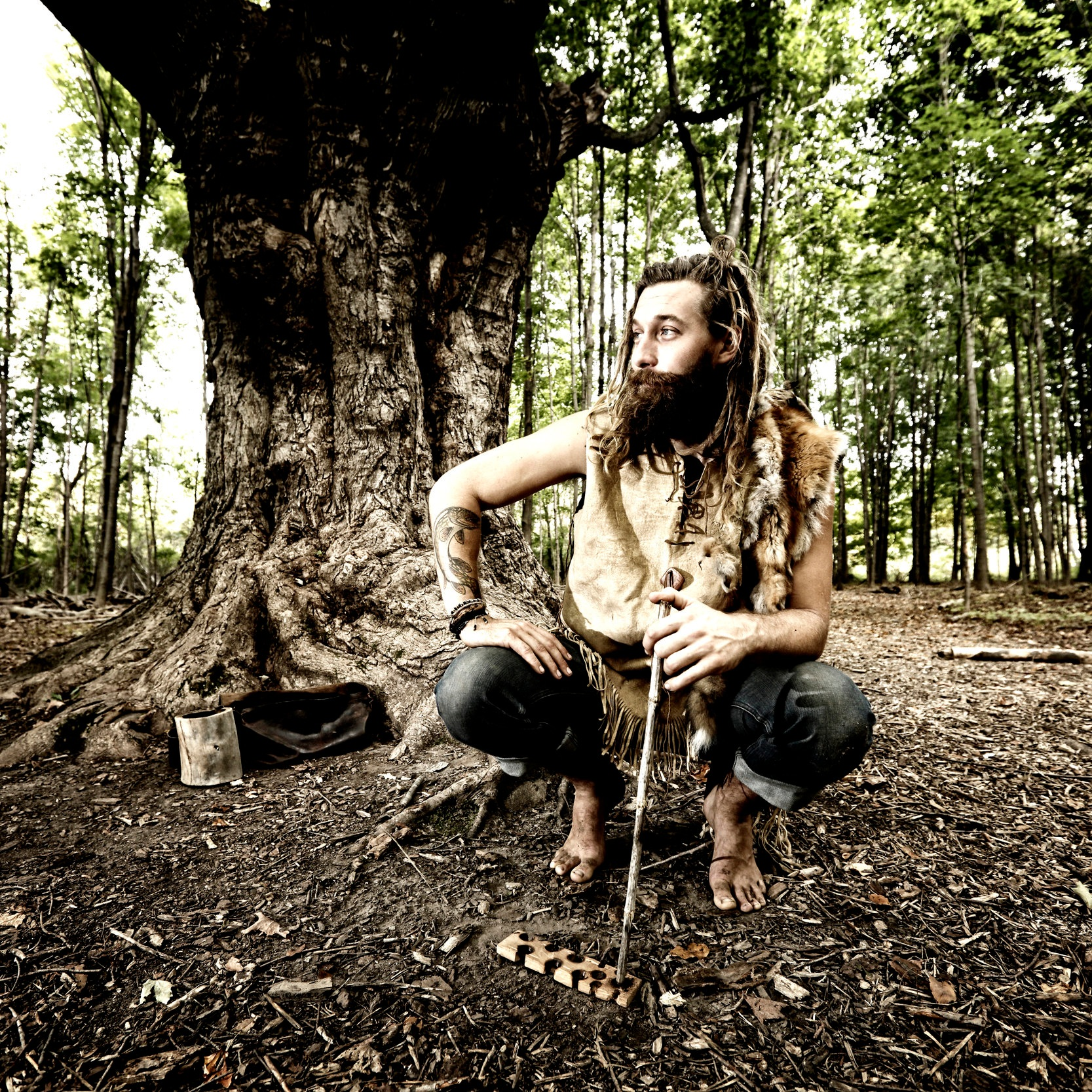 """Luke McLaughlin - Luke is a naturalist, rewilder, and founder of Holistic Survival School. Luke has committed his life to mastering and teaching ancestral and indigenous living skills in order to help people find their balance and connection to the Natural World. Furthermore, Luke has witnessed first hand how nature connection helps bring about growth, health, and vitality to everyone's life.Luke combines humor, knowledge, and patience to create an easy-going, yet informative experience. He is dedicated to meeting people where they are at, with love and compassion in order to help foster a new (actually old) way of being human.Additionally, Luke has been trained in Holistic Counseling and loves helping people foster greater awareness of their patterns.Luke is most known for his epic 21 and 40 day wilderness excursions for the shows """"Naked and Afraid"""" and """"Naked and Afraid XL"""". During his time living off the land, Luke lived the skills and philosophy he teaches."""