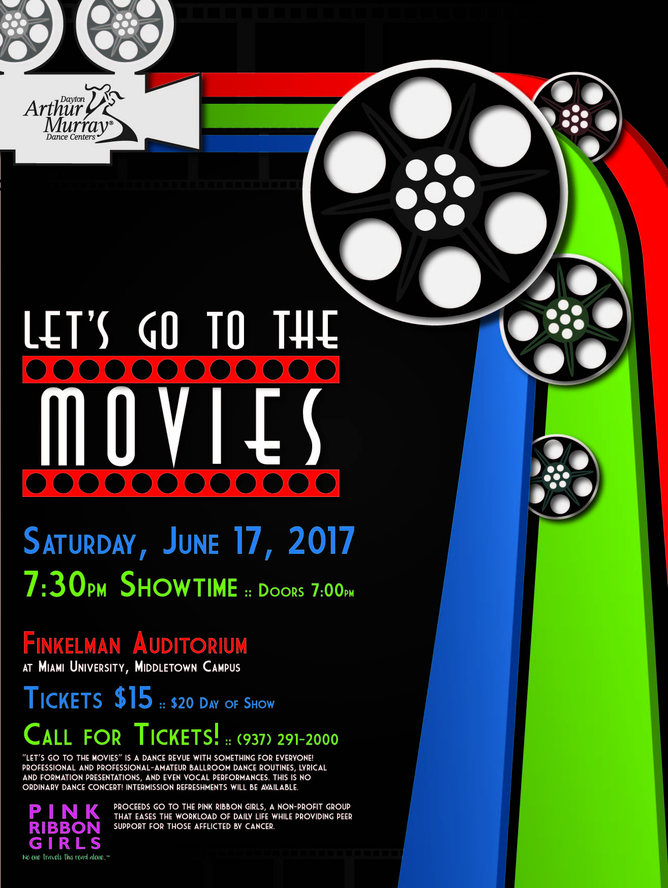 Promotional poster for Let's Go to the Movies event