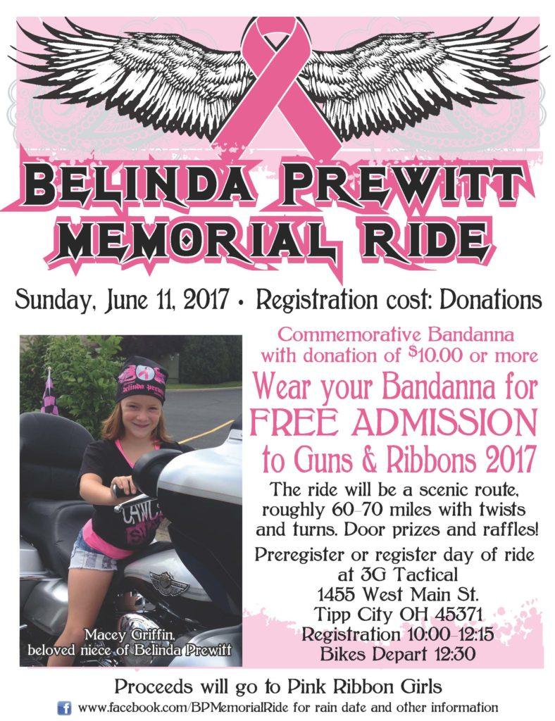 Belinda Prewitt Memorial Ride promotional poster