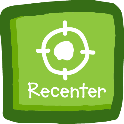 Recenter Button - Tapping (VR 360) or gazing (VR with headset) this button will recenter what is on your screen. This can be really helpful if the characters are not centered on your screen.