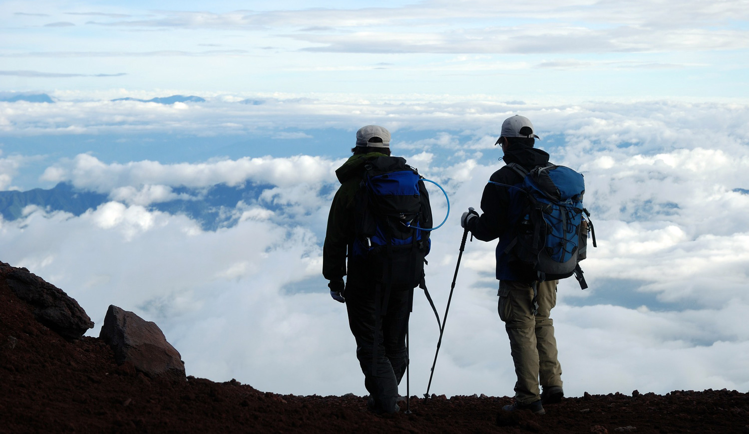 Hiking above the clouds on Mt. Fuji. Image:     Tuan Hung Nguyen