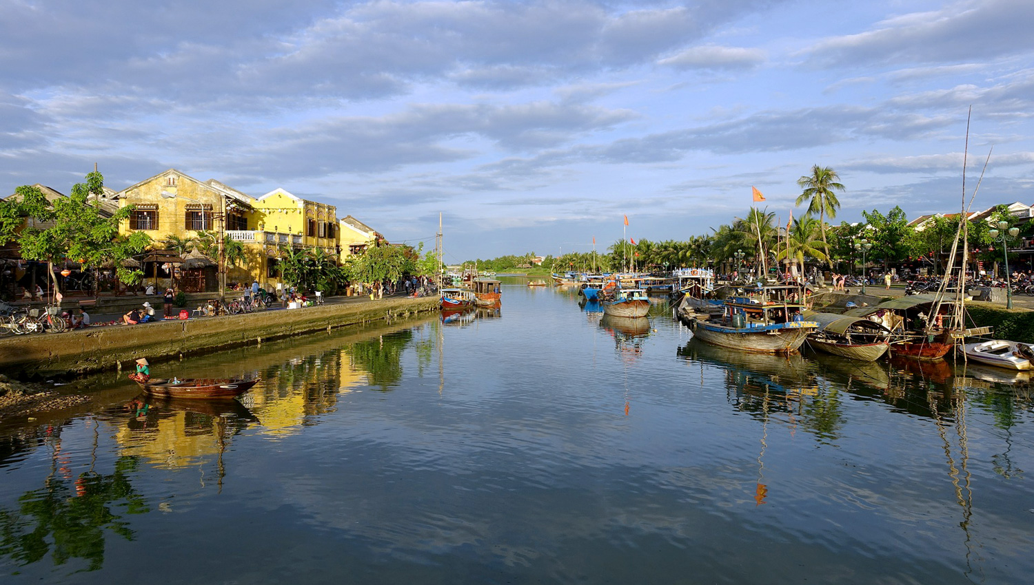 Colonial buildings along the river at Hoi An.   Image:   Kl Kim